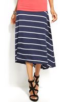 Inc International Concepts Striped Highlow Skirt - Lyst