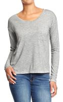 Old Navy Pocketfront Cropped Tees - Lyst