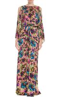Temperley London Long Lina Floral Print Dress - Lyst