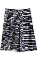 Jil Sander Navy Full Skirt - Lyst