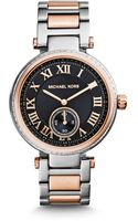 Michael Kors Skylar Silver and Rose Goldtone Bracelet Watch - Lyst