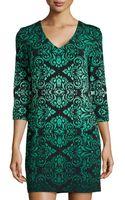 Ali Ro Baroque-print Jersey Shift Dress - Lyst
