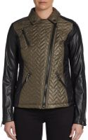 Laundry By Shelli Segal Quilted Moto Jacket - Lyst