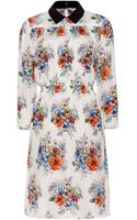 Miu Miu Floral-print Silk-crepe Dress - Lyst