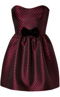 RED Valentino Jacquard Strapless Dress - Lyst