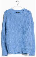 Mango Reverse Knit Sweater - Lyst