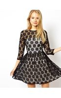 Asos Skater Dress in Star Lace - Lyst