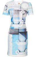 Clover Canyon Short Sleeve Neoprene Classical Dress - Lyst