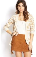 Forever 21 Geo Open Front Cardigan - Lyst