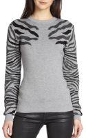 Torn By Ronny Kobo Shauna Zebra-patterned Sweater - Lyst
