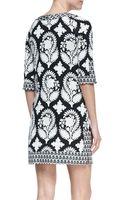 Diane Von Furstenberg Eloise Half-sleeve Floral-print Silk Mini Dress - Lyst