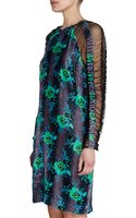 Christopher Kane Long Sleeve Floral Dress - Lyst