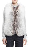 The Row Reversible Fox Fur Vest - Lyst