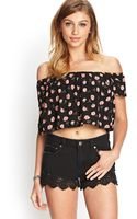 Forever 21 Floral Print Crop Top - Lyst