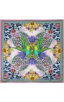 Matthew Williamson Blossom DNA Printed Silk Scarf - Lyst