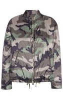 Valentino Camouflageprinted Bomber Jacket - Lyst