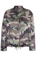 Valentino Camouflageprinted Bomber Jacket - Lyst
