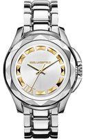 Karl Lagerfeld Karl 7 Stainless Steel Bracelet Watch - Lyst