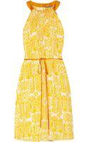 Maiyet Handprinted Pleated Silk Dress - Lyst