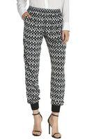 Greylin Black and White Stretch Kaufman Pattern Track Pants - Lyst