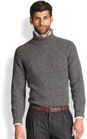 Brunello Cucinelli Marled Cashmere Chunky Turtleneck Sweater - Lyst