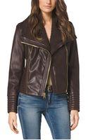 Michael Kors Asymmetriczip Leather Jacket - Lyst