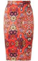 Vivienne Westwood Anglomania Dynastyprint Pencil Skirt - Lyst