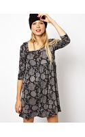 Asos Smock Dress in Burnt Out Floral - Lyst
