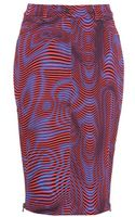 Opening Ceremony Water Jean Printed Stretchcotton Skirt - Lyst