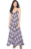 Twelft Street Cynthia Vincent Braided Strap Maxi Dress - Lyst