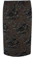 No 21 Lurex Brocade Pencil Skirt - Lyst