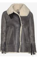 Iro Jenny Shearling Lined Distressed Leather Jacket - Lyst