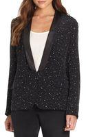 Marchesa Voyage Star Garden-print Tuxedo Jacket - Lyst