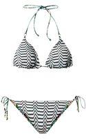 Missoni Mare Reversible Crochetknit Triangle Bikini - Lyst