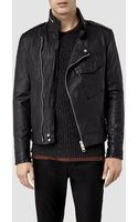 AllSaints Chatton M65 Leather Jacket - Lyst