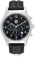 Andrew Marc Stainless Steel  Perforated Leather Strap Chronograph Watch - Lyst