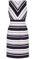 Karen Millen Woven Stripe Dress - Lyst