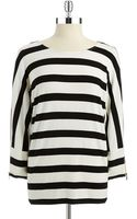 Calvin Klein Striped Dolman Sleeved Top - Lyst