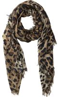 Balmain Leopardprint Scarf - Lyst