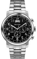 Bulova Mens Stainless Steel Dress Collection Chronograph Watch - Lyst