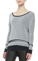Alice + Olivia Dane Twotone Knit Sweater - Lyst
