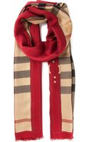 Burberry London House Check Scarf - Lyst