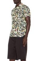 White Mountaineering Botanical Print Rayonblend Shirt - Lyst