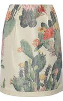 Matthew Williamson Printed Cotton and Silk Blend Skirt - Lyst