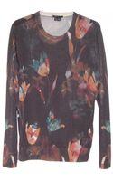Theory Kidi Printed Sweater - Lyst