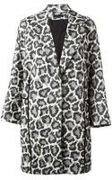 Diane Von Furstenberg Vivienne Leopard Print Coat - Lyst