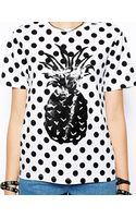 Asos Tshirt with Polka Dot Pineapple Print - Lyst