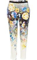 River Island Blue Ombre Floral Print Trousers - Lyst
