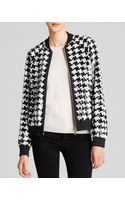 Michael by Michael Kors Sequin Houndstooth Bomber Jacket - Lyst