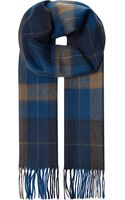 Hugo Boss Haivon Checked Cashmere and Wool-blend Scarf - Lyst